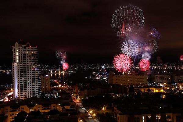 Fireworks - San Diego - July 4, 2013